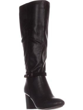 Womens KS35 Galee Wide-Calf Dress Boots, Black