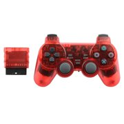 Replacement WIRELESS Gaming Pad Controller For Playstation PS1 PS2 Game Console Systems Wireless - RED