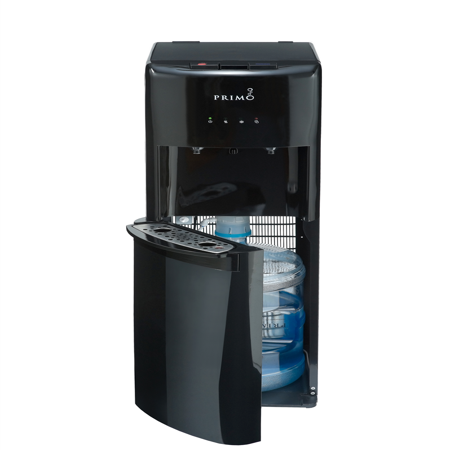 Primo Bottom Loading Hot/Cold Water Dispenser, Black (5 Gallon Water Dispenser)