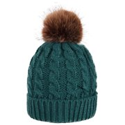 8849e2d30e5 Women s Winter Soft Knitted Beanie Hat with Faux Fur Pom Pom