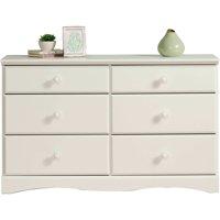 Sauder Storybook 6-Drawer Dresser, Soft White Finish