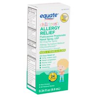 Equate Children's Allergy Relief Nasal Spray, 50 mcg, Ages 4 Years & Older, 0.34 fl oz