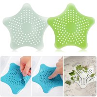 TSV Bathroom Drain Hair Catcher Bath Stopper Plug Sink Strainer Filter Shower Covers Green+Teal Green 2Packs