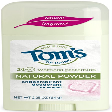Tom's of Maine Antiperspirant Deodorant, Natural Powder, 2.25 (Best Female Deodorants)