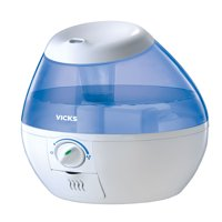 Vicks Mini Filter-Free Cool Mist Humidifier, White, VUL520W
