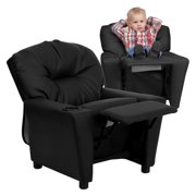1ae7af1bba2c Flash Furniture Kids  Leather Recliner with Cup Holder