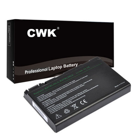 CWK Long Life Replacement Laptop Notebook Battery for Acer Aspire 9120 Series 5680 TravelMate 2450 2490 4200 4230 BATBL50L6 BATCL50L6 9120 5650 5680 eMachines E620 KAW60 9800 9810