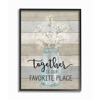 The Stupell Home Decor Collection Together is Our Favorite Place Oversized Framed Giclee Texturized Art, 16 x 1.5 x 20