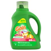 Gain + Aroma Boost Liquid Laundry Detergent with Febreze Freshness, Hawaiian Aloha, 64 Loads 100 fl oz