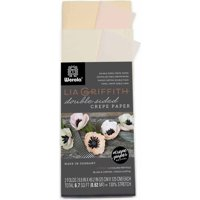 Lia Griffith Double Sided Crepe Paper, Blush & Peach Pack, 2 Sheets