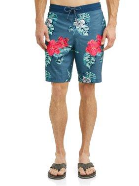 Men's Hibiscus Eboard Swim Short, up to size 5XL