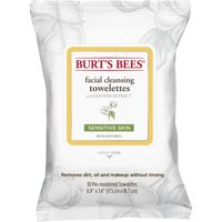 Burt's Bees Facial Cleansing Towelettes for Sensitive Skin, 30 ct