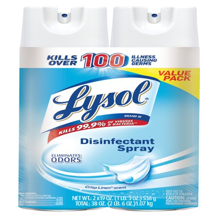 Lysol Disinfectant Spray, Crisp Linen, 38oz (Disinfectant Aerosol Spray)