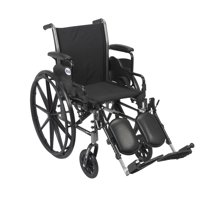 "Drive Medical Cruiser III Light Weight Wheelchair with Flip Back Removable Arms, Desk Arms, Elevating Leg Rests, 20"" Seat"