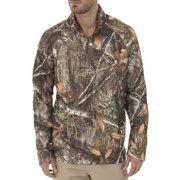 26e70b687542b Realtree & Mossy Oak Men's Fleece Performance Camo 1/4 Zip Jacket