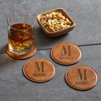 Personalized Initially Yours Leather Coasters