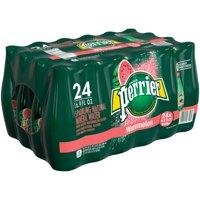 (24 Bottles) PERRIER Sparkling Natural Mineral Water, Watermelon, 16.9 Fl Oz
