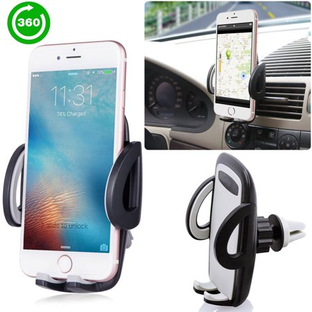 Car Mount – Air Vent Car Holder – Car Phone Mount for iPhone XS X 8 7 6 5 plus and any Android Cell Phone – Phone Holder for Car – Universal Vent Mount for Men and Women – Air Vent Holder Dog Cell Phone Holder