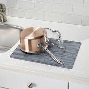Interdesign Chevron Silicone Kitchen Countertop Dish Drying Mat Large Gray