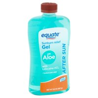 (3 pack) Equate After Sun Sunburn Relief Gel with Aloe, 20 oz