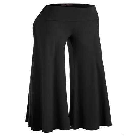 American Lounge Pants - MBJ Womens Chic Palazzo Lounge Pants