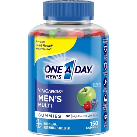 One A Day Menâs VitaCraves Multivitamin Gummies, Supplement with Vitamins A, C, E, B6, B12, and Vitamin D, 150 ct.