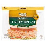Great Value Thin Sliced Premium Oven Roasted Turkey Breast, 16 Oz.
