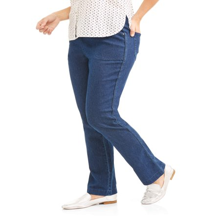 Women's Stretch Denim Pull-On Bootcut Jeans ()