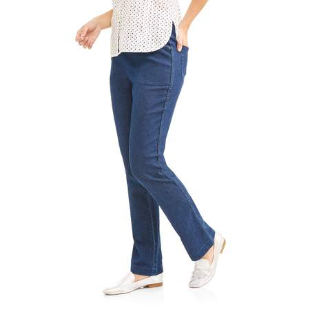 Bootleg Trouser Jeans (Women's Stretch Denim Pull-On Bootcut Jeans )