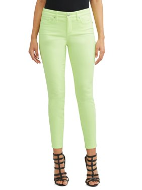 Sofía Skinny Mid Rise Stretch Ankle Twill Jean Women's (Lime)
