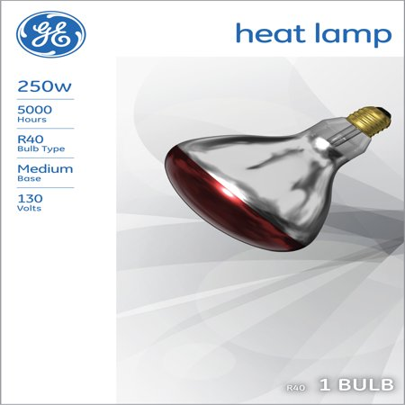 Br40 Incandescent Spot Lamp (GE INCANDESCENT RED HEAT LAMP 250W BR40 FLOOD LIGHT 1-COUNT )