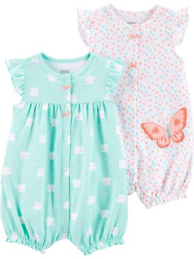 Snap up romper, 2-pack (Baby Girls)