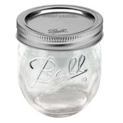 Ball Regular Mouth Collection Elite Half-Pint Glass Jam Jars with Bands and Lids, 8 oz., 4 Count