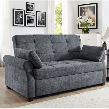 Serta Haiden Queen Sofa Bed, Gray