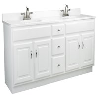"""Design House 541086 Concord Unassembled 4-Door 3-Drawer Vanity without Top, 72"""", White"""