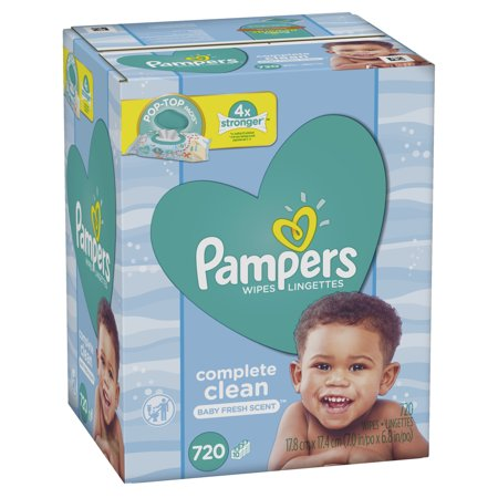 Pampers Baby Wipes Complete Clean Scented 10X Pop-Top Packs 720 Count ()