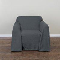 Belle Maison Spencer Woven Chair Slipcover, Steel