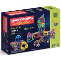Magformers Magnetic Tiles 112 piece Challenger Accessory Set