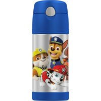 Genuine Thermos Paw Patrol Stainless Steel 12 Ounce Vacuum Insulated Bottle with Straw, 1 Each