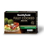 Smithfield Applewood Smoked Ready-to-Eat Bacon, Fully Cooked Bacon, 100% Real Bacon, Natural Smoke Flavor Added, 12 slices