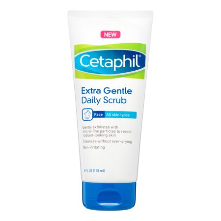 Cetaphil Extra Gentle Daily Scrub, Exfoliating Face Wash For Sensitive and All Skin Types, 8