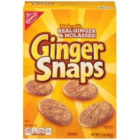 (3 Pack) Nabisco Ginger Snaps Cookies, 16 Oz