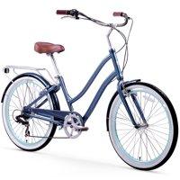 "26"" sixthreezero Women's EVRYjourney Seven Speed Step-Through Touring Hybrid Bicycle, Navy"
