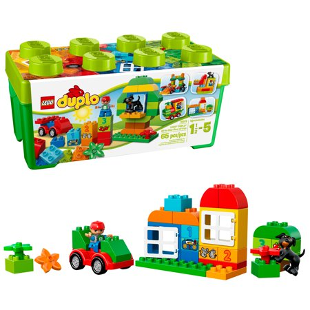 - LEGO DUPLO All-in-One-Box-of-Fun Brick Box 10572 (65 Pieces)