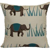 "Mainstays Elephant Pillow, 16"" x 16"", Teal"