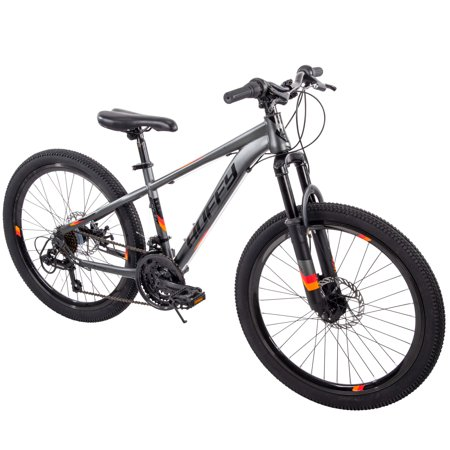 "Huffy 24"" Scout Boys' Hardtail 21-Speed Mountain Bike with Disc"