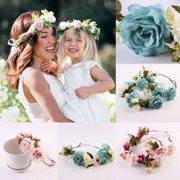 4ddf8d4f2dd0 Cute Beautiful Women Girls Boho Flower Floral Hairband Headband Crown Party  Bride Wedding Beach
