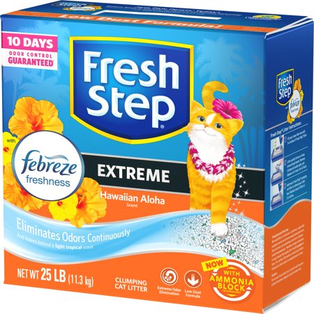Fresh Step Scented Litter with the Power of Febreze, Clumping Cat Litter - Hawaiian Aloha, 25 Pounds ()