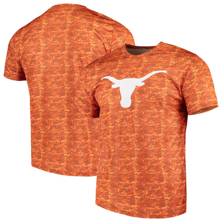 - Men's Camo Texas Longhorns Dundee T-Shirt
