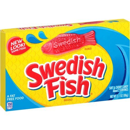 Swedish Fish Fat-Free Soft & Chewy Candies, 3.1 Oz. - Individually Wrapped Swedish Fish